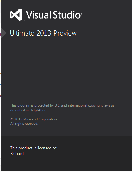 Visual Studio 2013 Ultimate Preview Released