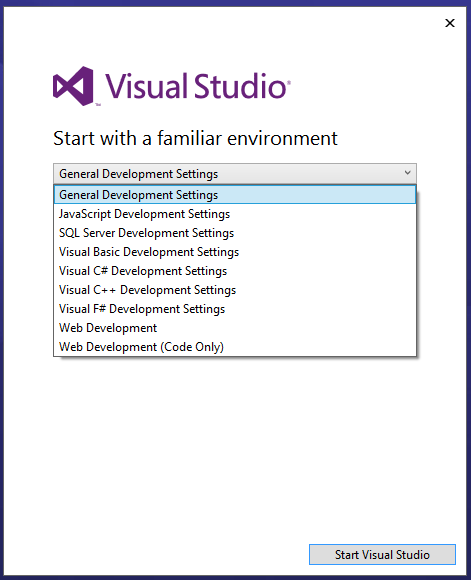 VisualStudioWelcome