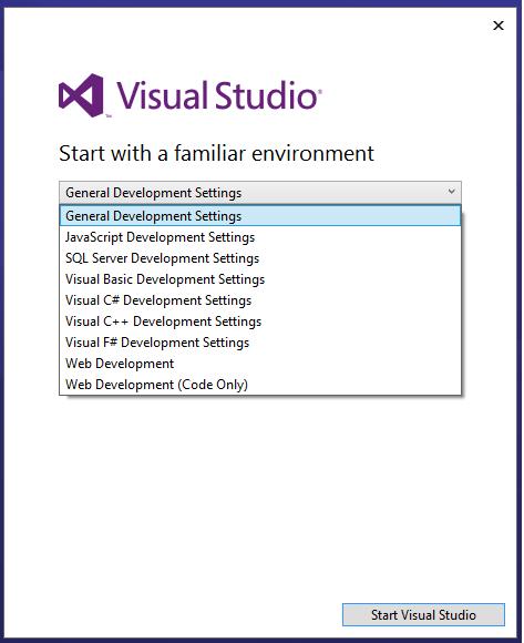 VisualStudioWelcome